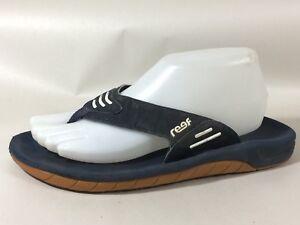 d93023c5b136d Reef Navy Blue Flip Flop Thong Sandals Mens 8 M White Casual Shoes ...