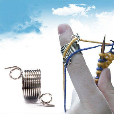 Knitting Braided Ring Tools Finger Thimble Yarn Needle Guide Sewing Accessories