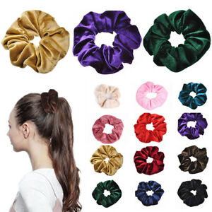 Velvet-Scrunchies-Ponytail-Holder-Hair-Accessories-Band-Hair-Elastic-Lot-Gi-S1G8