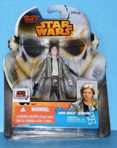 NEW Card Star Wars Saga Legends Action Figure SL27 SW EPVI HAN SOLO ENDOR