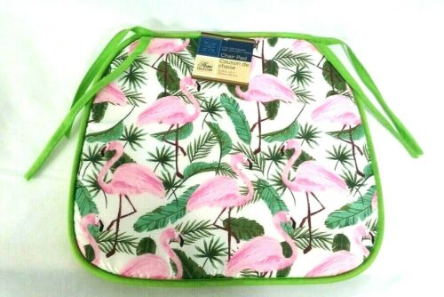 Home Collection Chair Pads Pink Flamingos 15x13.75 Outside You Choose Quantity