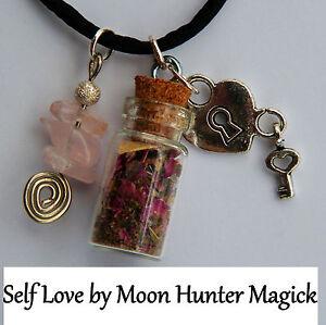 Self-Love-Self-Esteem-Charm-Bottle-Necklace-Confidence-Religious-Ritual-Supply