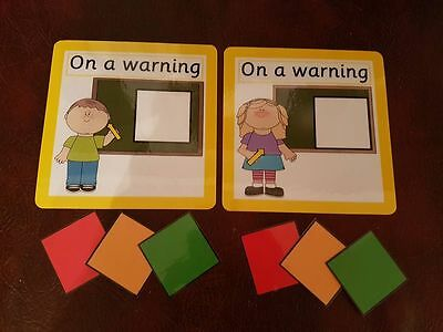 Traffic Light Boy or girl SEN Autism Visual Behaviour Warning Chart