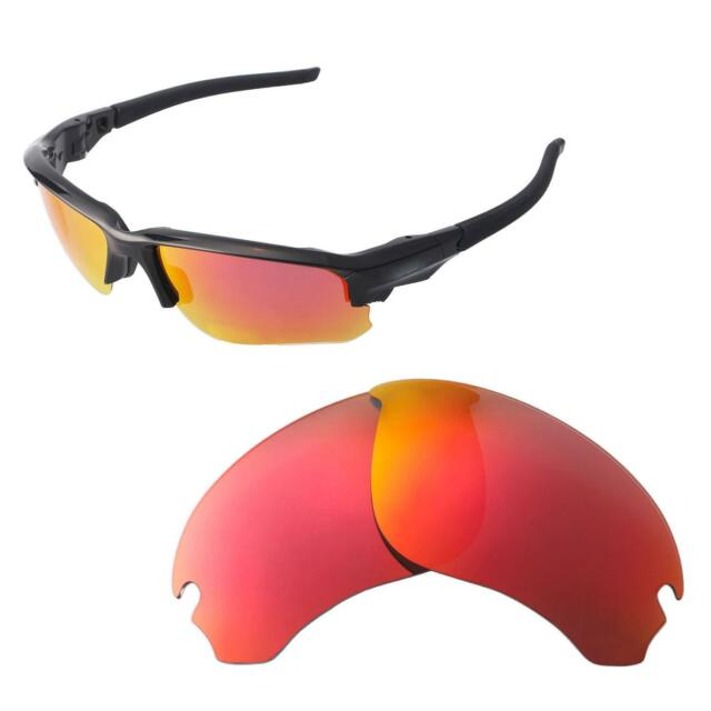 643731b257 Walleva Fire Red Polarized Replacement Lenses For Oakley Flak Draft  Sunglasses