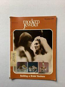 Vintage Modern Jeweler Magazine December 1975 - Jewelry, Watches Gems Diamonds
