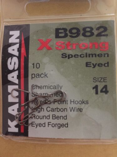 FREE P/&P KAMASAN B982 X STRONG EYED MICRO BARBED HOOKS