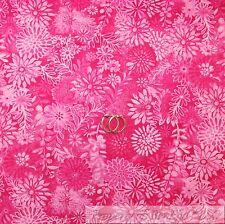 BonEful Fabric FQ Cotton Quilt Hot Pink Dark Fuchsia VTG Leaf Flower Toile Lady