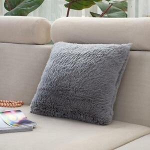 Vogue Super Soft Long Plush Cushion Cover Bed Sofa Throw Pillow Case Home Decor eBay