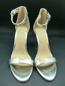 By Silver Block Strap 5 Petal Size Sandal Ankle Heeled Very With V L5RjqcS3A4