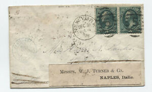 1878-3ct-banknote-cover-NY-to-France-and-forwarded-y4919