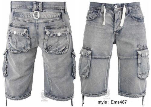 Men/'s Eto Jeans Denim Summer Shorts Cargo Combat Multi Pockets All Waist 28-48