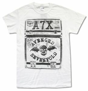Avenged-Sevenfold-Fragile-Summer-Tour-2014-White-T-Shirt-New-Official-A7X