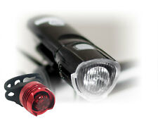 LED Front and Back Bike Light Set Warning Flashing Waterproof,BATTERIES INCLUDED