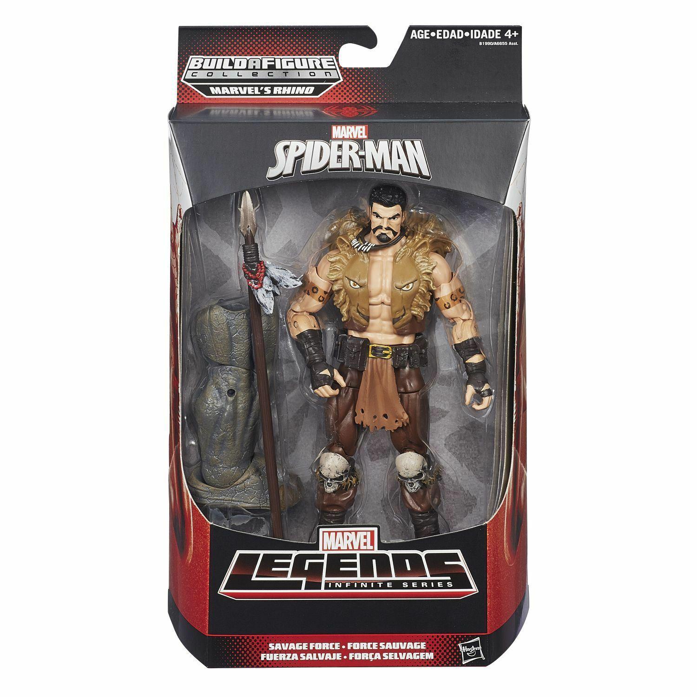 Marvel Legends KRAVEN THE HUNTER Figure 6  SPIDERMAN SAVAGE FORCE BAF RHINO