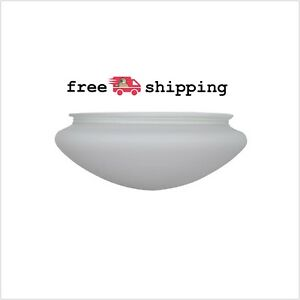 Hugger 52 Quot White Ceiling Fan Replacement Glass Shade Light