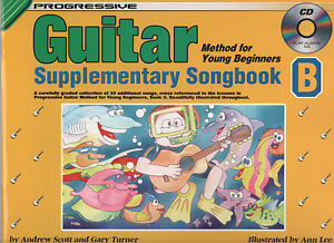 Cd Musical Instruments & Gear Nice Progressive Guitar Young Beg Supp Songbook B