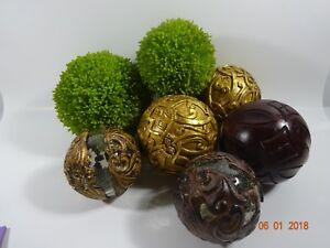 Iron Garden Spheres Colorful Set of 3 Garden Decor