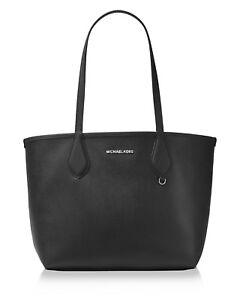 8d0ac53d9152fc Image is loading Michael-Kors-Saige-Med-Reversible-Tote-Purse-Black-