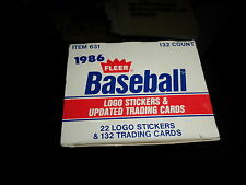 1986 FLEER  UPDATE BASEBALL CARDS, COMPLETE SET,