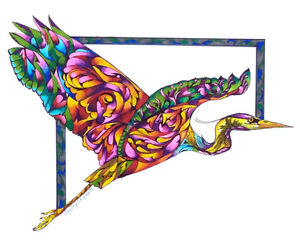 FLYING-COLORS-8X10-HERON-BIRD-Print-from-Artist-Sherry-Shipley
