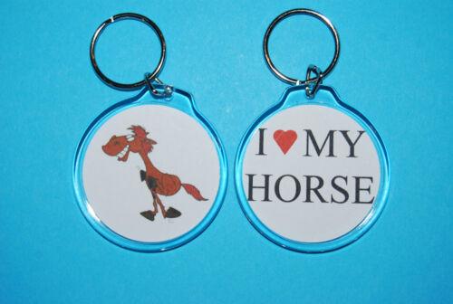 bord-stable-clés de maison-touches de travail-Cadeau J/' aime mon cheval-porte-clés
