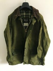 Mens-Barbour-Gamefair-wax-jacket-Green-coat-42in-size-Large-Extra-Large-L-XL