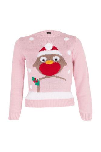 Ragazze Natale Maglione Natale bambini Maglione 3D Novità Pullover POM POM Top Bird