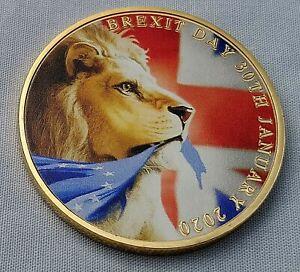 BORIS-JOHNSON-Gold-Coin-The-Man-Who-Got-BREXIT-Done-Lion-Faux-Diamond-Old-Retro
