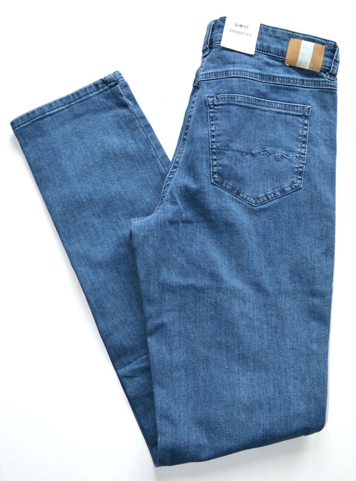 MAC Jeans ANGELA bleu denim stretch Foncé Bleu Slim Leg Basic taille 38 l34 NEUF