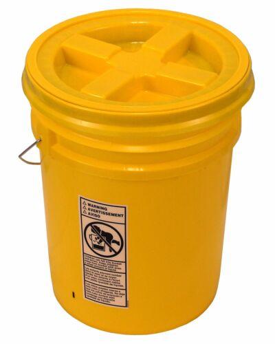 5 Gallon Yellow Bucket with Gamma Seal Lid