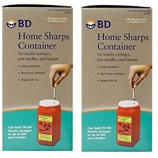 Best Syringes Needle Disposable System, Home Sharps Container - Pack of 2