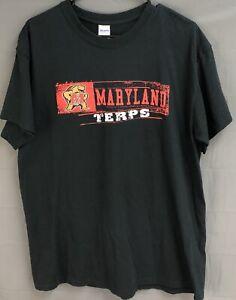 Maryland-Terrapins-Basketball-T-Shirt-Mens-Large-L-Black-Terps