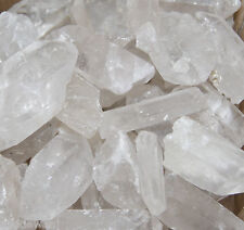 QUARTZ WANDS POINT BROKEN TIPS ROUGH GEMSTONE ROCK CRYSTAL SOME DAMAGE CHEAP 1KG