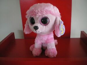 9e8177e64a3 Ty Beanie Boos PRINCESS poodle 6 inch NWMT.RETIRED SOLID EYES - PURPLE HANG  TAG.