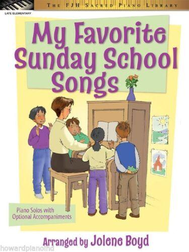 FJH Music My Favorite Sunday School Songs Piano Solos arranged by Jolene Boyd