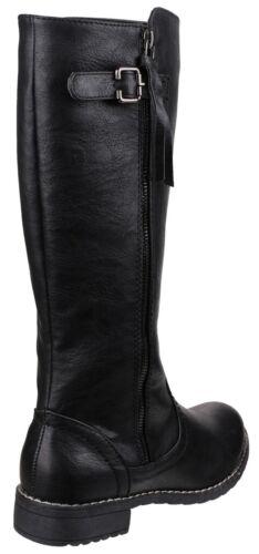 Divaz Bari Twin Zip pleine longueur Womens genou haute couture bottes chaussures UK3-8
