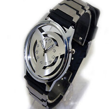 Anime Naruto Syaringan Quartz Watch Bracelet Wrist Watch Hollow Cosplay Gift New