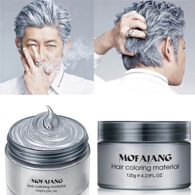 Professional Silver Grey Hair Wax Hair Pomades Natural Hairstyle Styling Cream