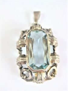 Antique-Pendant-Silver-835-with-Blue-Topaz-7-04-G