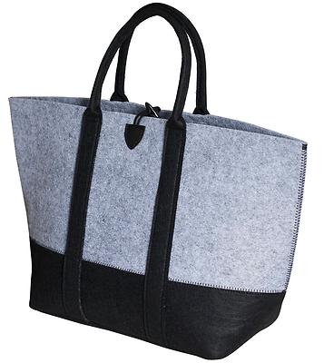 Filztasche, Einkaufstasche, Shopper, Mehrzwecktasche, schwarz, grau, NEU