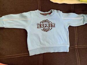 Baby-Hellblauer-Pullover-Gr-56-Esprit