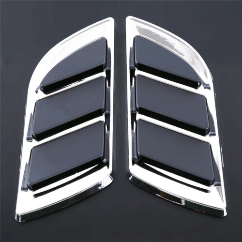 2pcs//Set Car Sticker Simulation Air Inlet Vent Auto Trunk Decals Badge Cool New
