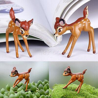 Disney Deer Miniature Figurine Garden Ornament Plant Pot Fairy Dollhouse Craft