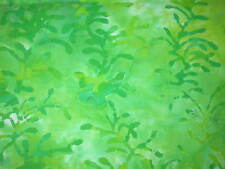 1 yard BATIK Green  Cotton Quilt Fabric
