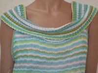 Sharon Young Misses Large Striped Multi Color Knit Top $ 99.00