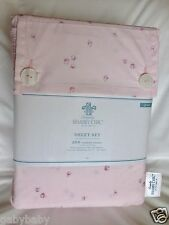 Rachel Ashwell Simply Shabby Chic Ditsy Rosebuds Rose Pink QUEEN Sheet Set NEW