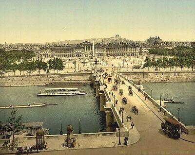 Place de la Concorde Paris France 1890 photochrom Photo Print