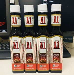 A1 Thick Hearty Steak Sauce 5 Oz Each Lot Of 4 Exp 07 22 A Seller Ebay