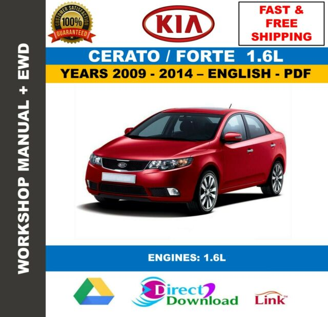 Workshop Manual Kia Cerato Forte 1 6l 2009