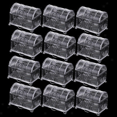 Mini Treasure Jewelry Box Wedding Party Shower Plastic Candy Box SupplieHFUK